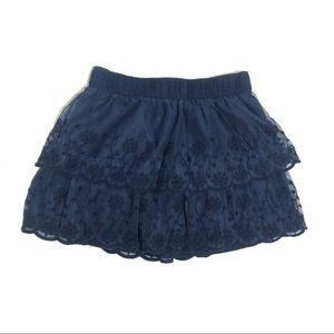 CARTERS Toddler 5T Navy Blue Embroidered Skirt
